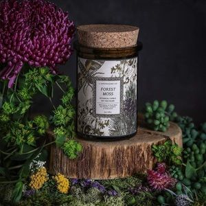 🆕 handcrafted botanica forest moss soy candle